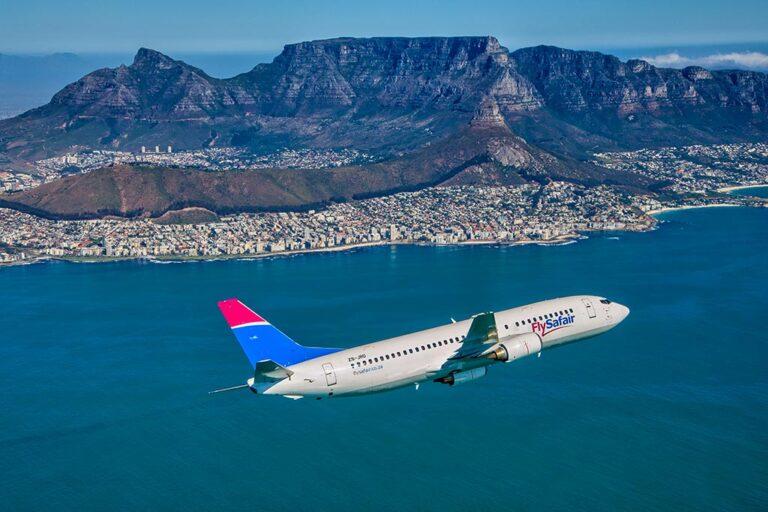 FLYSAFAIR in Flight Table Mountain